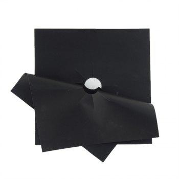 4pcs Safety Nonstick Gas Stove Protection Mat - BLACK