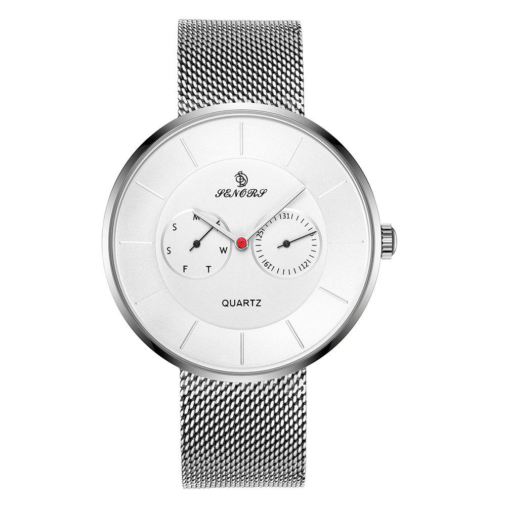 Senors SN074  Luxury  Men Casual  Quartz-watch - WHITE