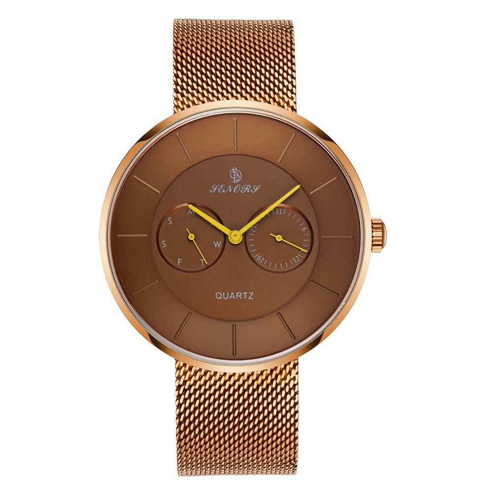 Senors SN074  Luxury  Men Casual  Quartz-watch - CHAMPAGNE