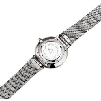 SENORS SN029   Men Ultra-thin Steel Band Quartz Watch - SILVER
