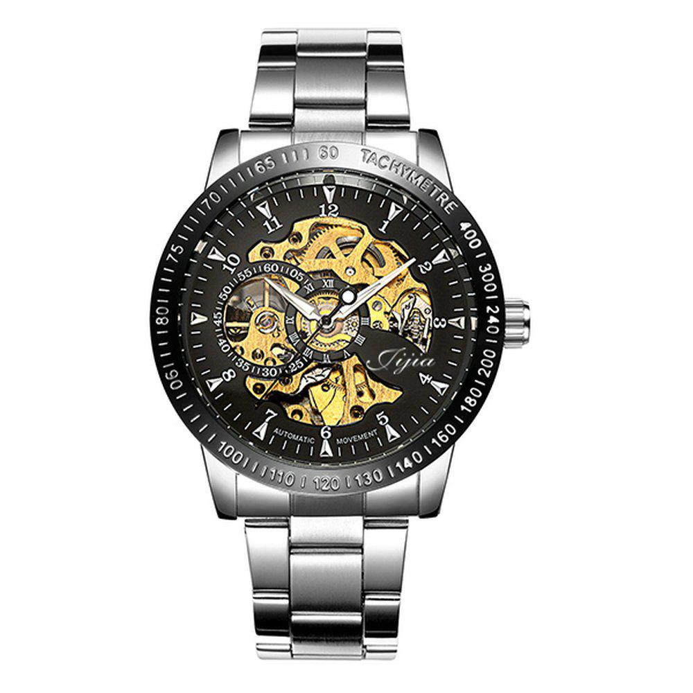 JIJIA G8119 Automatic Digital Surface Mechanical Watches - BLACK