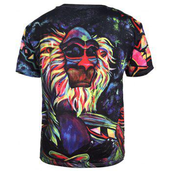 Trend Digital Printing Short-Sleeved T-Shirt - BLACK 3XL