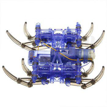 Creative DIY Assemble Intelligent Electric Spider Robot  Educational Puzzle Toy - ROYAL BLUE