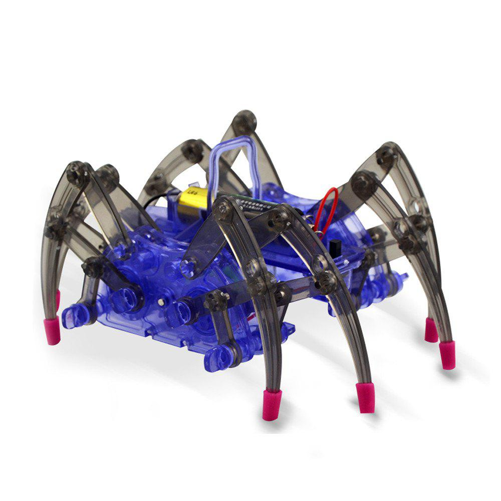 Creative DIY Assemble Intelligent Electric Spider Robot Educational Puzzle Toy electric spider robot toy diy educational intelligence development assembles kids children puzzle action toys kits