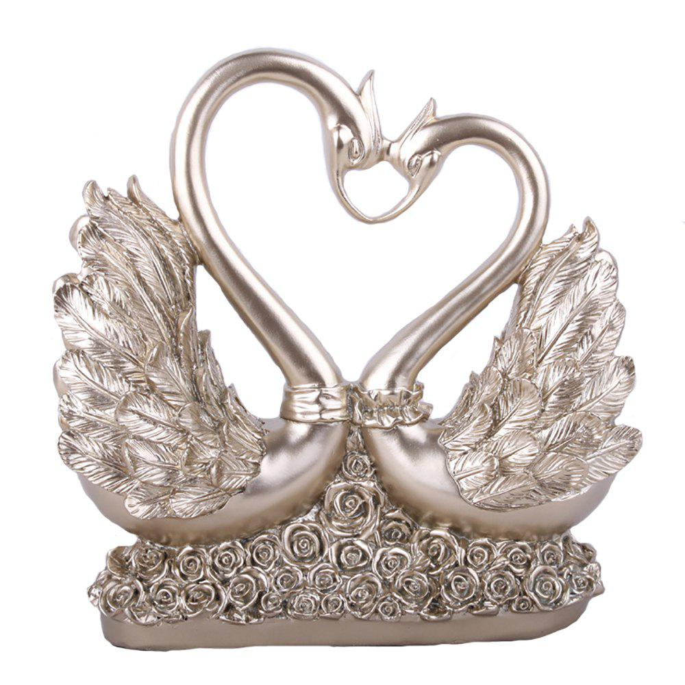 Фото Home Decor Swan Heart-Shaped Resin Ornaments Wedding Gifts Decoration