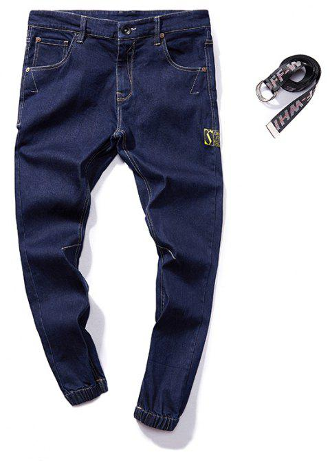 Stylish and Simple Trend Slim Men's Jeans - JEANS BLUE L