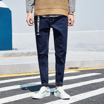 Stylish and Simple Trend Slim Men's Jeans - JEANS BLUE M