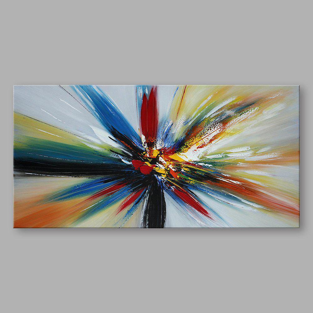 2018 styledecor handmade abstract horizontal colorful ray oil painting for decor multicolor x