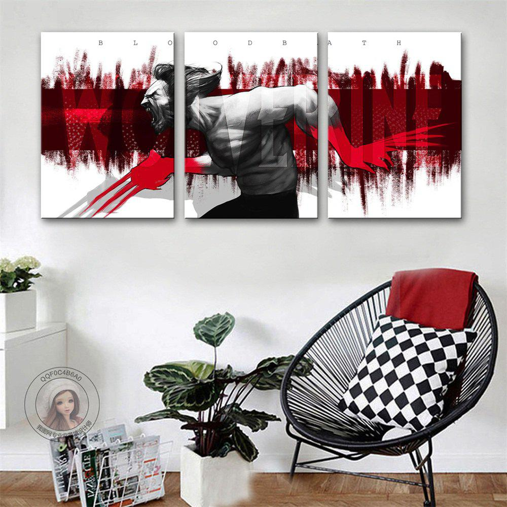 Special Design Frameless Paintings Brutal Print 3PCS худи print bar brutal