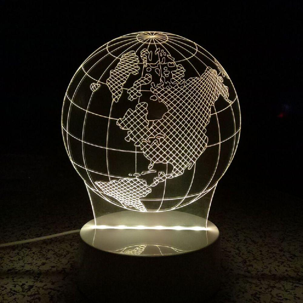 3D World Map Shape Led Light Multi-Color Desk Night Lamp for Kids Room - multicolor 20 X 15 X 9CM