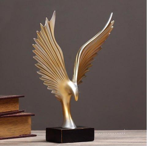 WX-A24-LX50 New Simple Resin Angel Wing Decoration - GOLD SIZE 2