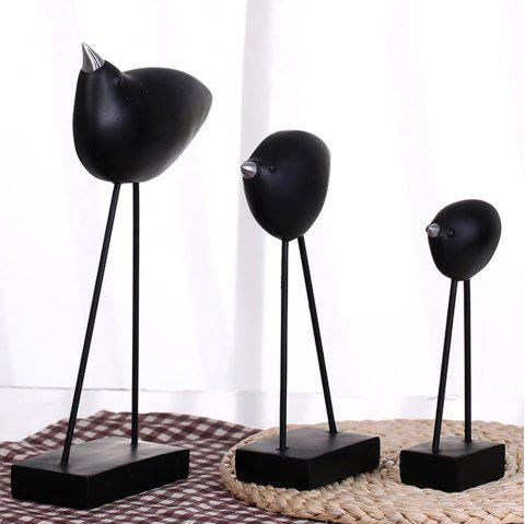WX-E27-N722 Simple Abstract Bird Living Room TV Cabinet Decoration - BLACK SIZE M