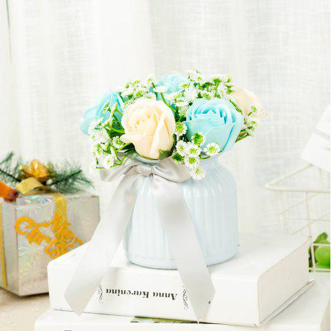 WXQY-09 Home Ceramic Rose Flower Pot - ALICE BLUE
