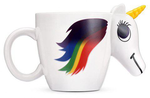 BALDR Magic Unicorn Ceramic Heat Sensitive Mug Color Changing Cup - WHITE