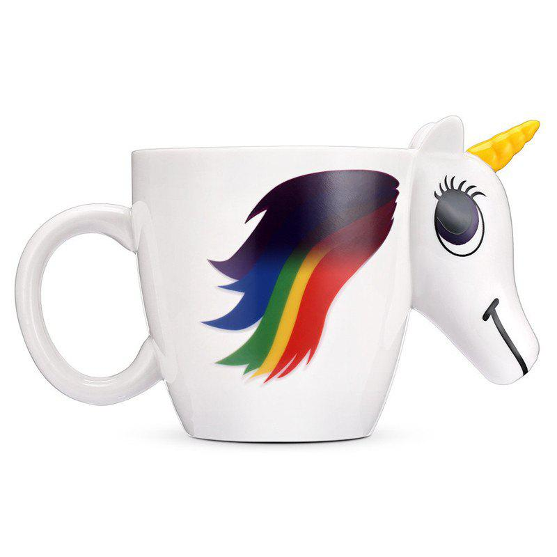 BALDR Magic Unicorn Ceramic Heat Sensitive Mug Color Changing Cup cozzine unicorn heat sensitive mug color changing cup 3pcs