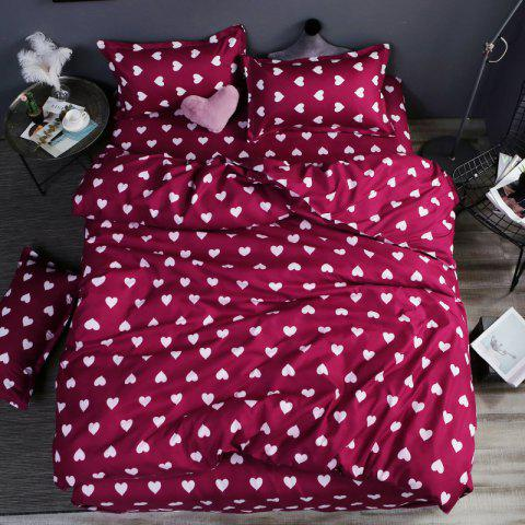 New Spring Bedding Sets Sweetheart Style Creativity Space Duvet Cover Set Quilt - RED WINE DOUBLE