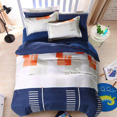 New Spring Bedding Sets Sweetheart Style Creativity Space Duvet Cover Set Quilt - NAVY BLUE DOUBLE
