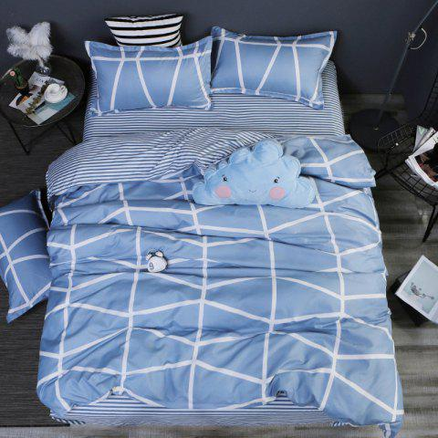 New Spring Bedding Sets Sweetheart Style Creativity Space Duvet Cover Set Quilt - LIGHT BLUE QUEEN