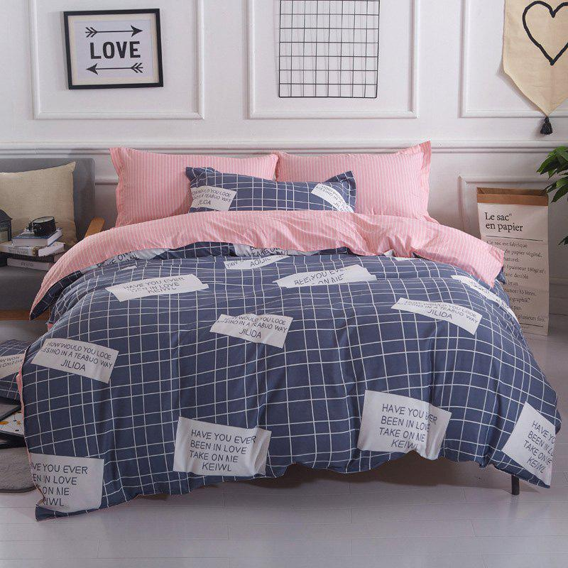 New Spring Bedding Sets Sweetheart Style Creativity Space Duvet Cover Set Quilt - POWDER BLUE QUEEN