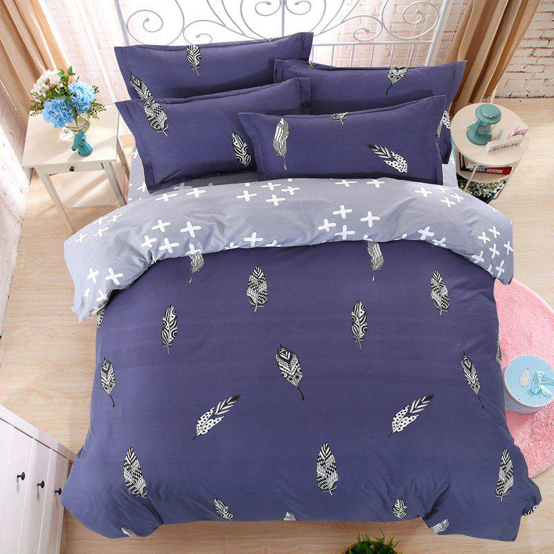 New Spring Bedding Sets Sweetheart Style Creativity Space Duvet Cover Set Quilt - MIDNIGHT BLUE DOUBLE