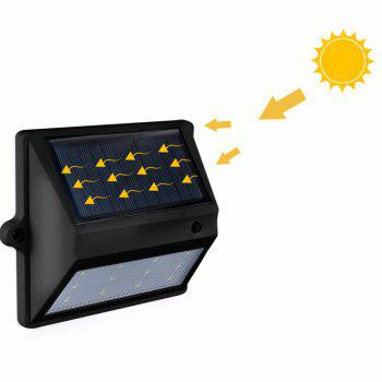 BRELONG 12LEDSolar Light Control Wall Light - Courtyard Garden Lights - BLACK