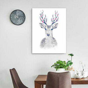 W018 Deer Unframed Art Wall Canvas Prints for Home Decorations - multicolor A 30CM X 40CM