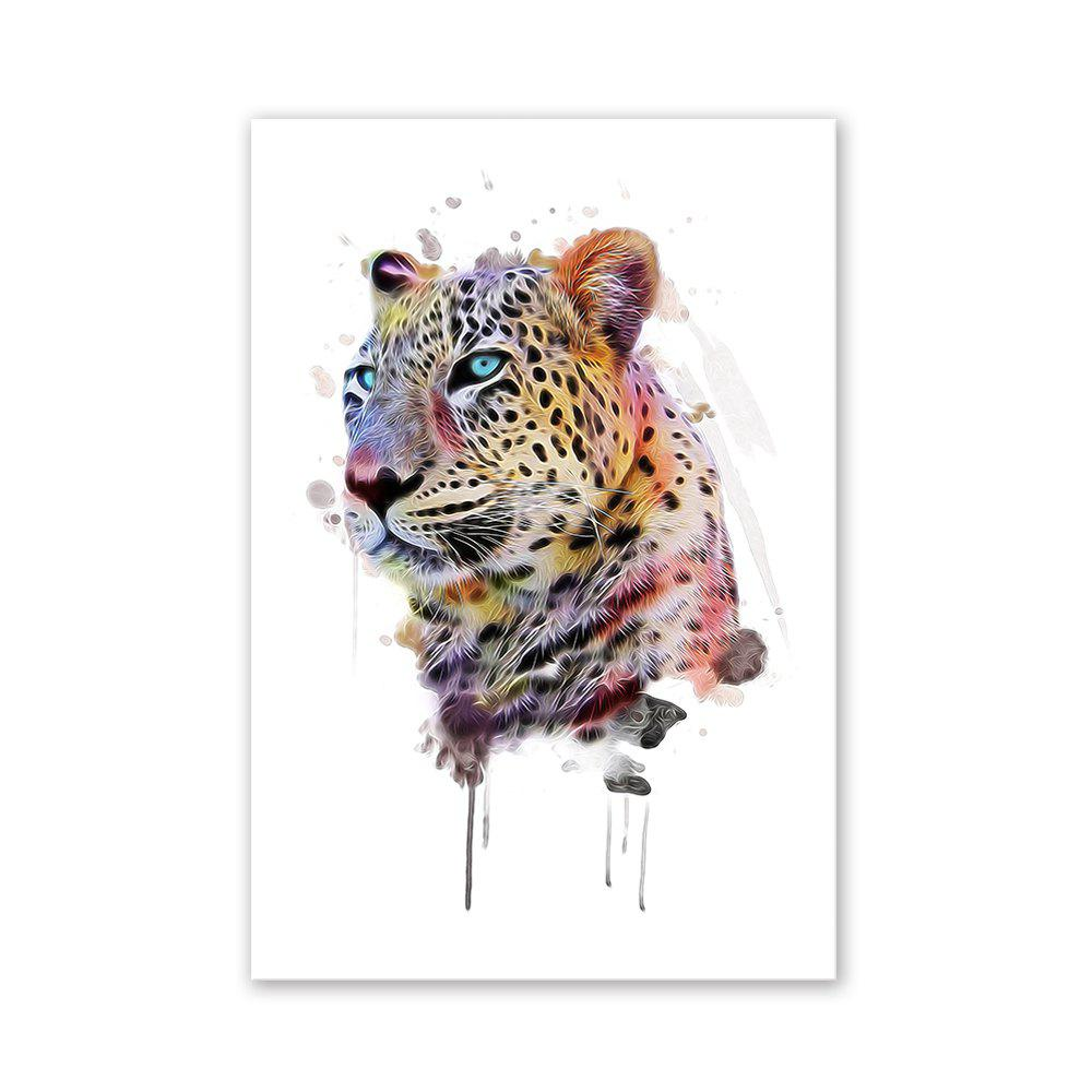 W021 Leopard Head Unframed Wall Art Canvas Prints for Home Decor burning guitar pattern unframed wall art canvas paintings