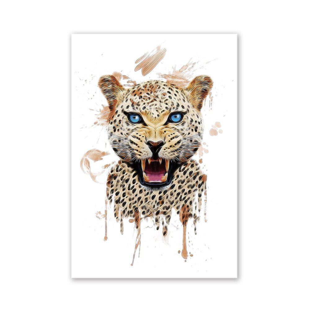 W023 Leopard Head Unframed Wall Art Canvas Prints for Home Decoration family wall quote removable wall stickers home decal art mural