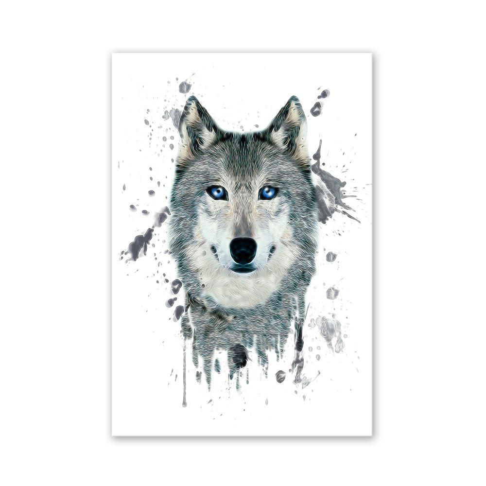 Фото W027 Wolf Head Unframed Wall Art Canvas Prints for Home Decoration family wall quote removable wall stickers home decal art mural