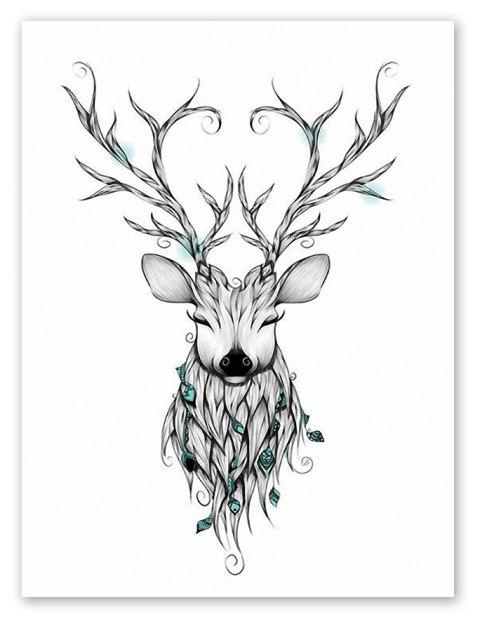 W029 Deer Unframed Art Wall Canvas Prints for Home Decoration - multicolor A 30CM X 40CM