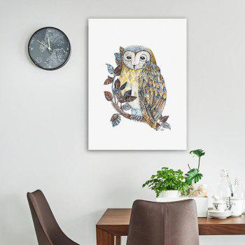 W030 Owl Unframed Art Wall Canvas Prints for Home Decoration - multicolor A 30CM X 40CM