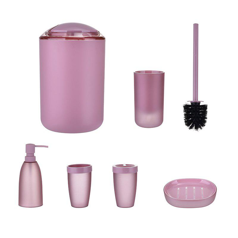 Bathroom Accessories Set Bin Toothbrush Tumbler Holder Soap Dish Dispenser 6PCS seven skin women messenger bags large size female casual tote bag solid leather handbag shoulder bag famous brand bolsa feminina