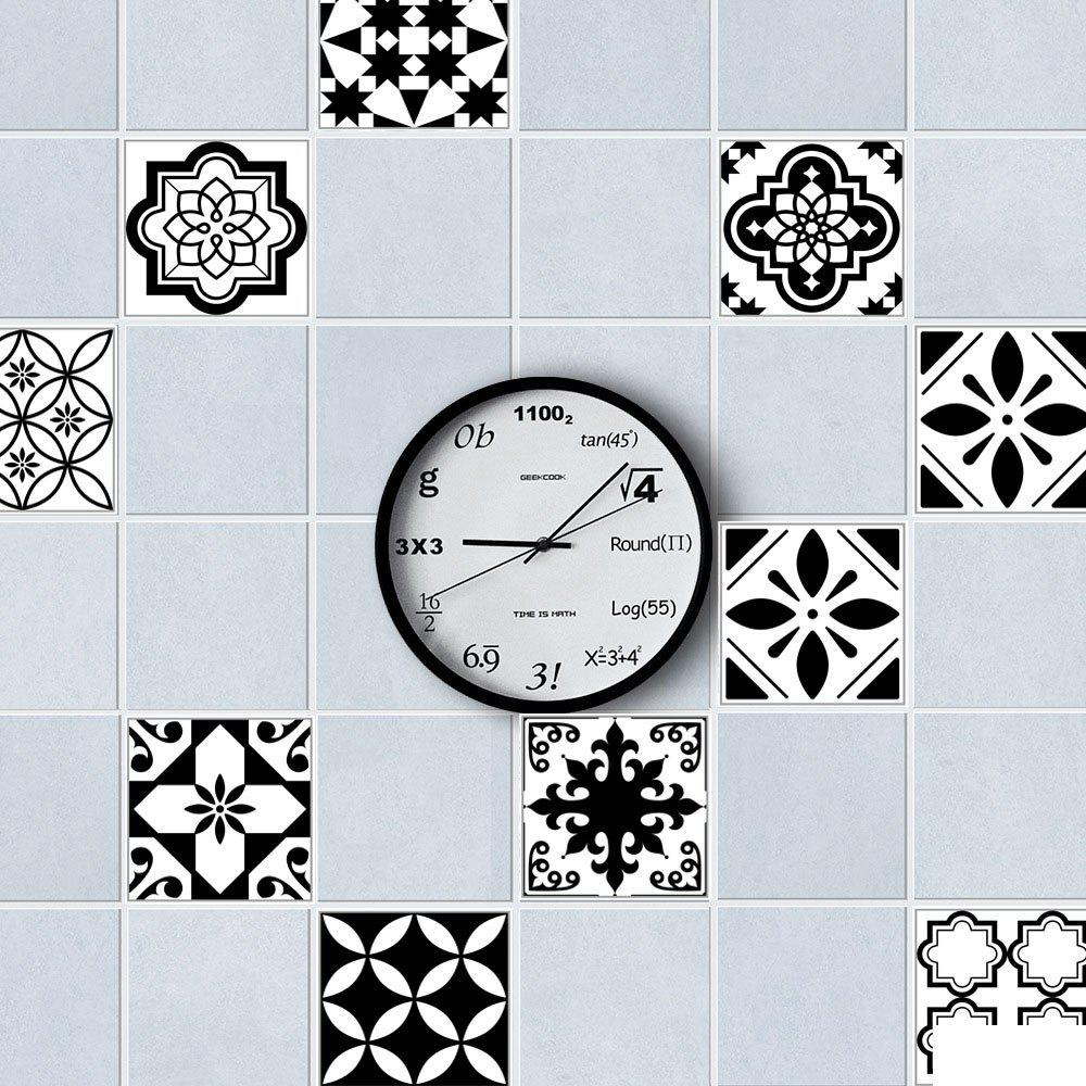 CZ023 Tile Pattern 3D Floor Sticker - multicolor