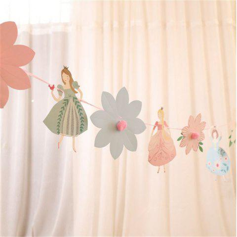 The Princess Wedding Paper Garlands For Baby Birthday Shower - PINK