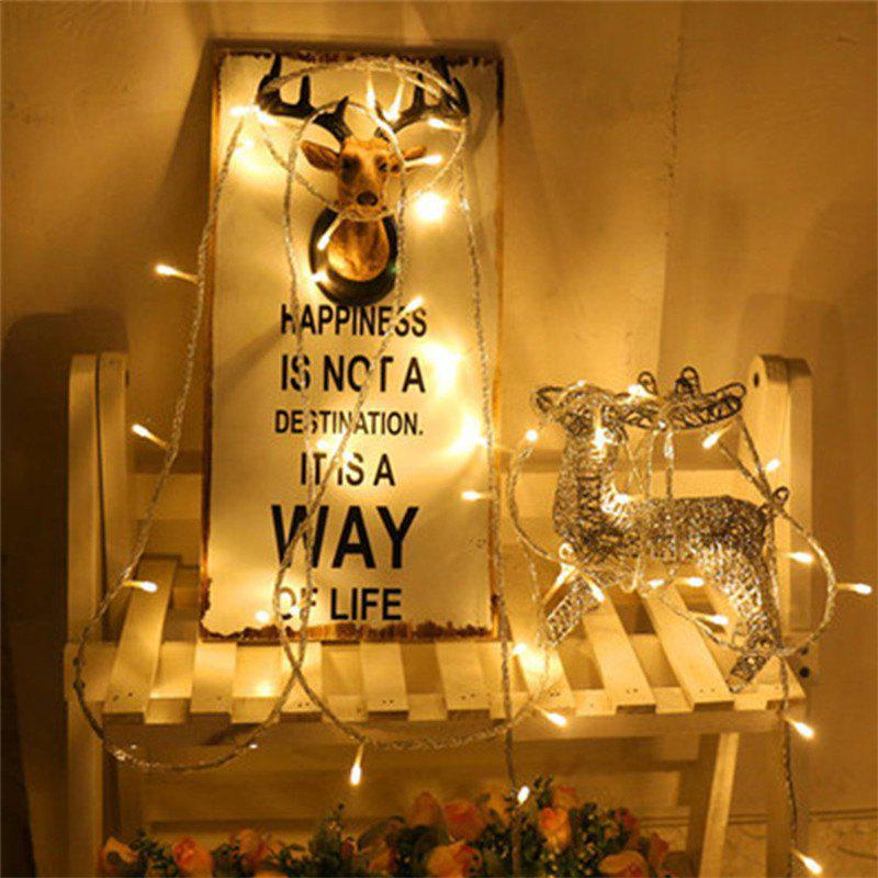 Reative 40 Lamp LED Small Lamp Bead Warm White Light String - WARM WHITE