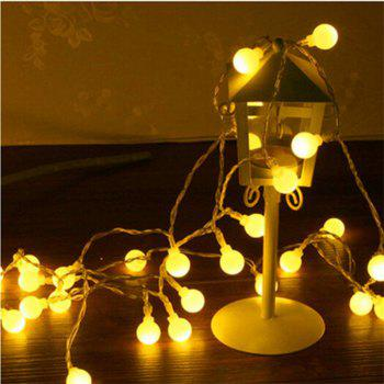 40 LED Small Round Ball Warm White Decorative Lamp String - WARM WHITE