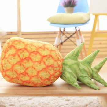 Individual Creative Fruit Pineapple Pillow with Core - SCHOOL BUS YELLOW 25X60CM