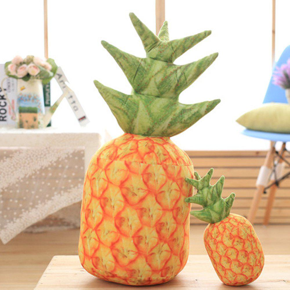 Individual Creative Fruit Pineapple Pillow with Core - SCHOOL BUS YELLOW 15X25CM