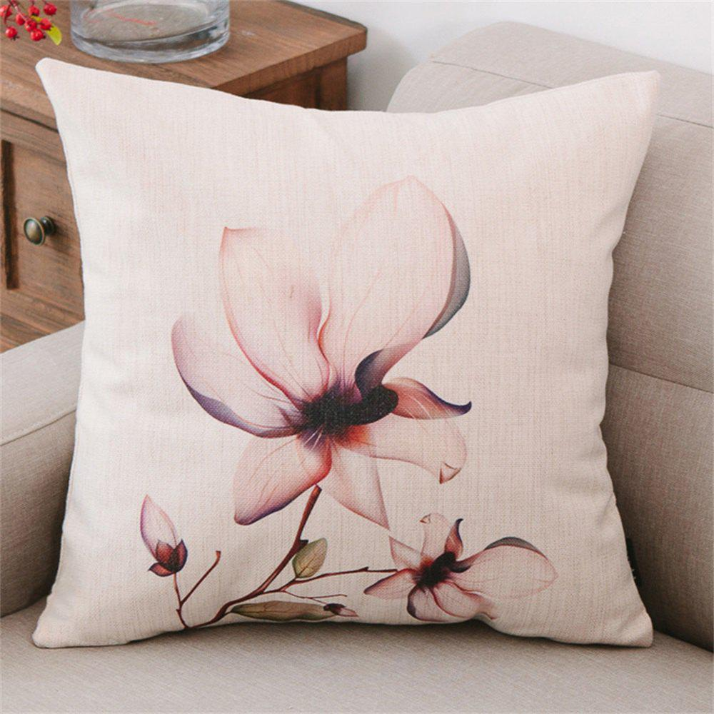 Simple Modern Lotus Design Pillow Cover - multicolor B