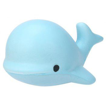 Cute Kawaii Jumbo Squishy 10CM Soft Whale Cartoon Slow Rising Squeeze - ROBIN EGG BLUE