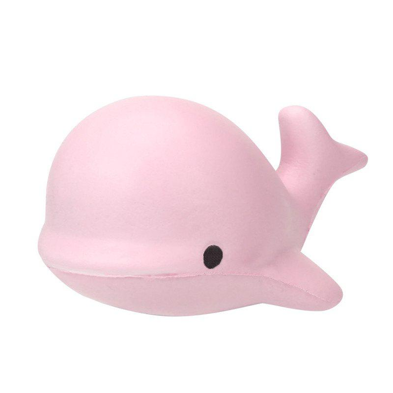Cute Kawaii Jumbo Squishy 10CM Soft Whale Cartoon Slow Rising Squeeze - PINK BUBBLEGUM