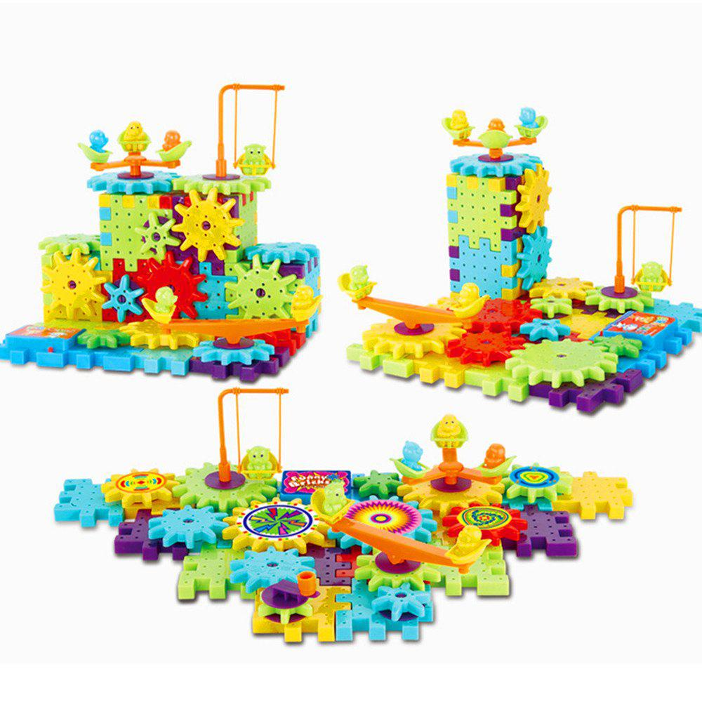 Funny Electric Spinning Gear Building Blocks Set Toys lepin 02069 genuine 778pcs city series the building crane set 7905 building blocks bricks funny toys as boy gift for birthday