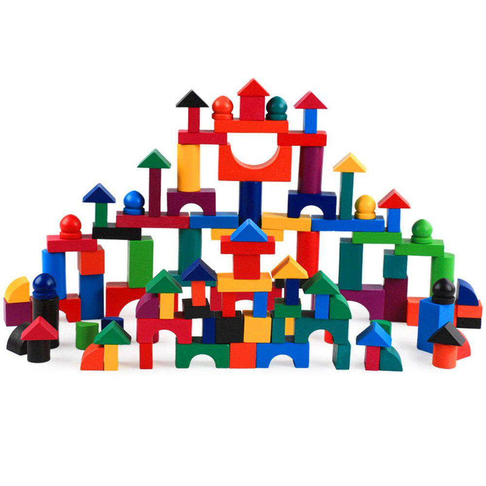 Kids Building Wooden Blocks Toys 112PCS kindergarten playground toys plastic building blocks toys happy big blocks children s big plastic bricks kids indoor toys
