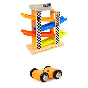 Ramp Race Track with 4 Mini Racers - multicolor A