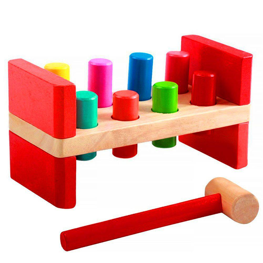 Pounding Bench Peg Wooden Toy Mallet Early Educational Games for Toddlers Kids abacus sorob baby puzzle wooden toy small abacus handcrafted educational toy children s wooden early learning kids math toy mz64