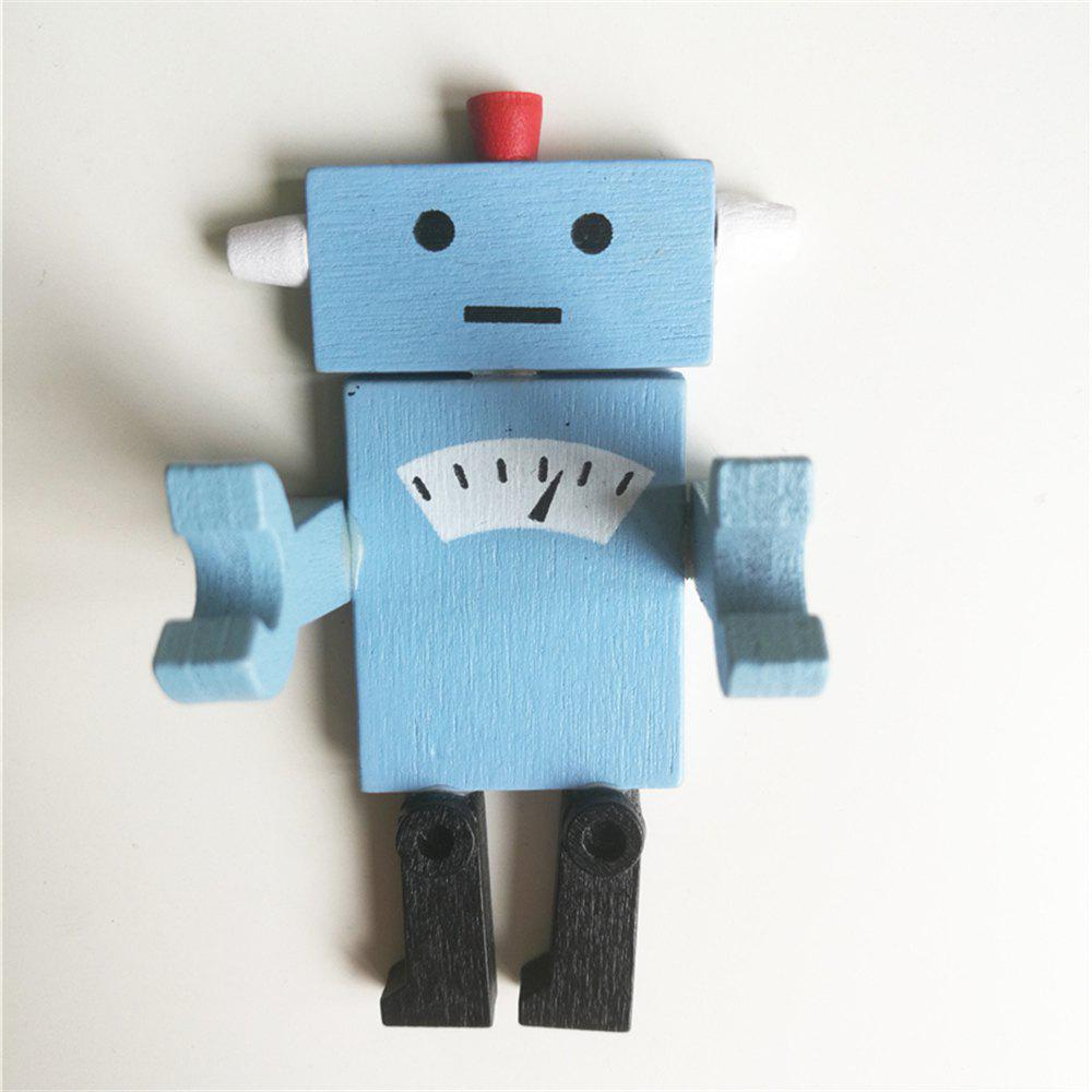Creative Wooden Robot Modeling Fridge Magnet newest wooden counting math toys number sticks fridge magnet mathematics early learn educational kids baby gifts