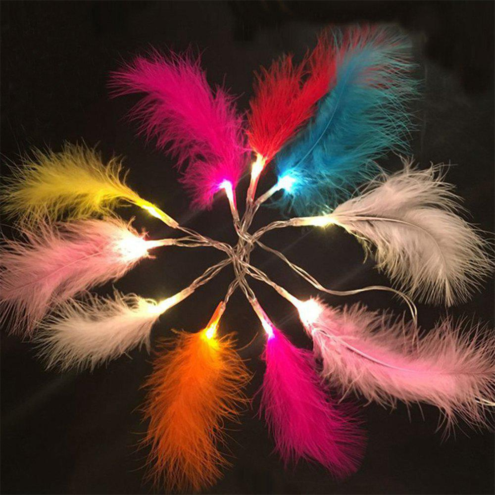 2M 20-LED Feather String Lights for Festival Wedding Party Home Decoration 10m 100 led 110v 8 mode fancy ball lights decorative christmas party festival twinkle string lamp strip rgb us plug