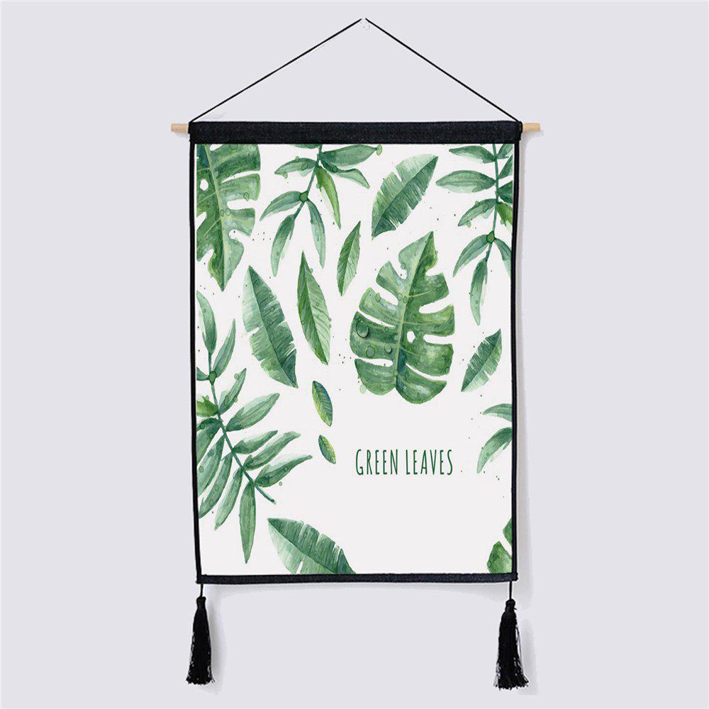 Modern Minimalist Style Leaf Fabric Hanging Paintings modern minimalist style green leaf fabric hanging painting
