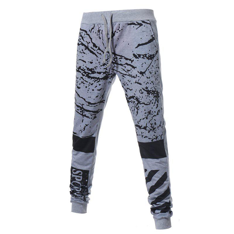 Men's New Fashion Camouflage Printed Pants - LIGHT GRAY L