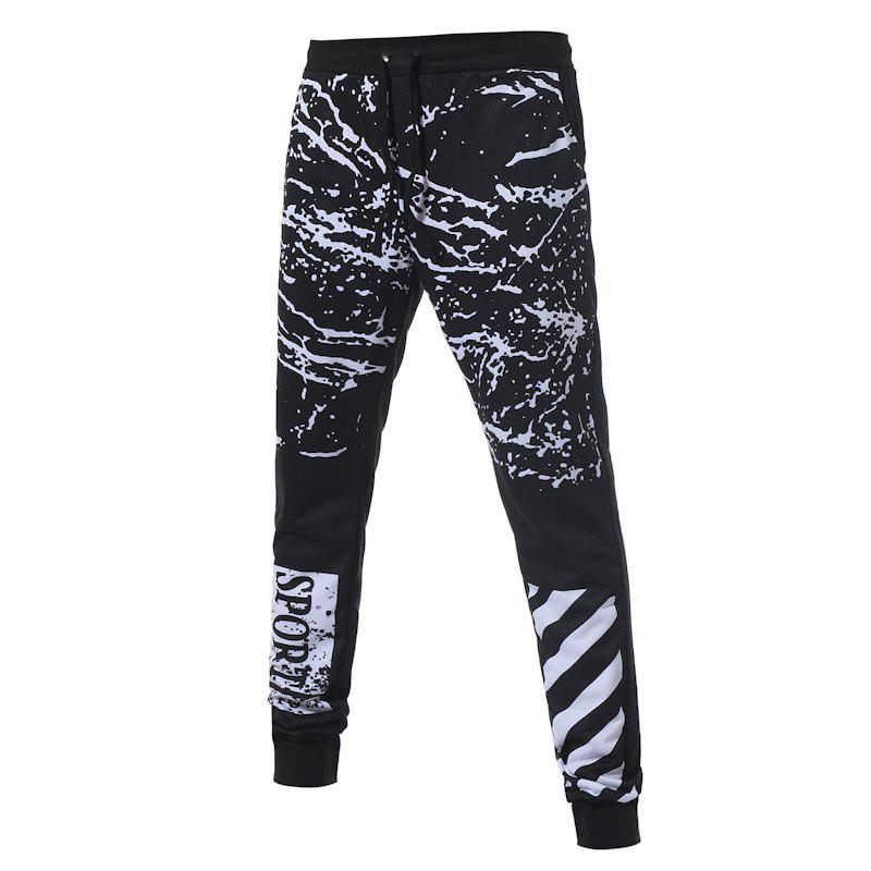 Men's New Fashion Camouflage Printed Pants - BLACK L